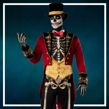 Achetez en ligne les costumes hommes pour devenir un squelette