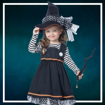 Achetez en ligne les déguisements Halloween de sorcière taille bébé