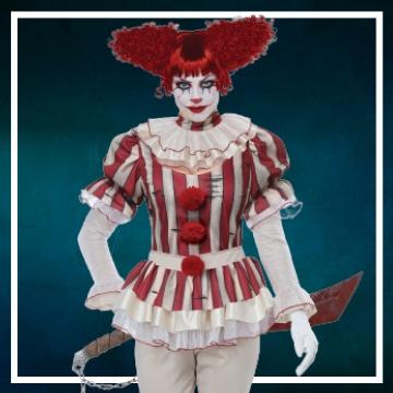 Achetez en ligne les costumes femmes pour devenir une clown méchante