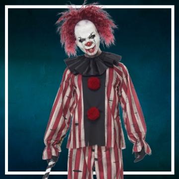 Achetez en ligne les déguisements Halloween de clown diabolique