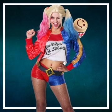 Achetez en ligne les déguisements Halloween de Harley Quinn