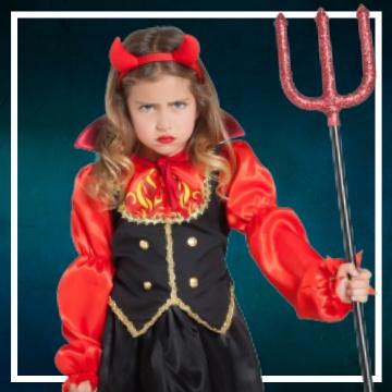 Achetez en ligne les déguisements Halloween de diablesses taille enfant