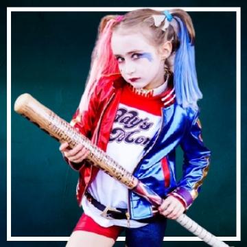 Achetez en ligne les déguisements Halloween de Harley Quinn taille enfant