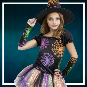 Achetez en ligne les déguisements Halloween de sorcières taille enfant