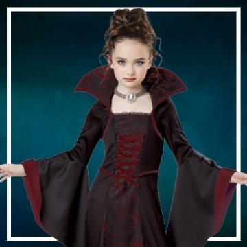 Achetez en ligne les déguisements Halloween de vampiresses taille enfant