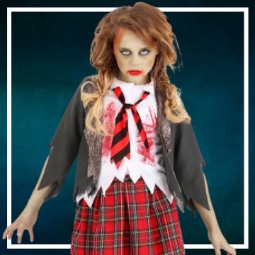 Achetez en ligne les déguisements Halloween de zombie taille enfant