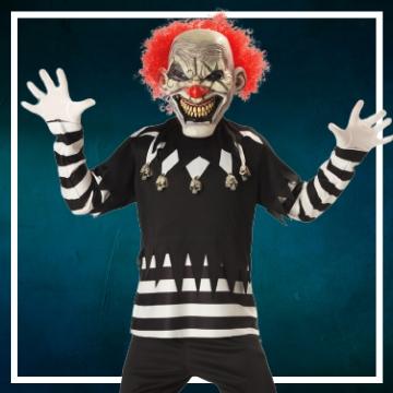 : Achetez en ligne les déguisements Halloween de clown diabolique taille enfant