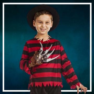 Achetez en ligne les déguisements Halloween de Freddy Krueger taille enfant