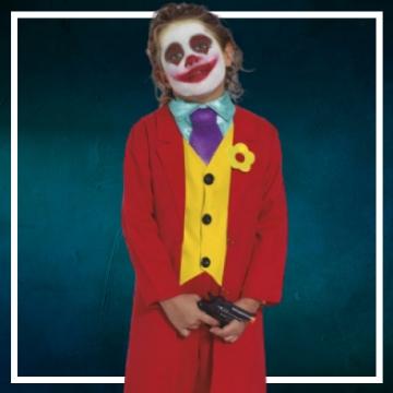 Achetez en ligne les déguisements Halloween de Joker taille enfant