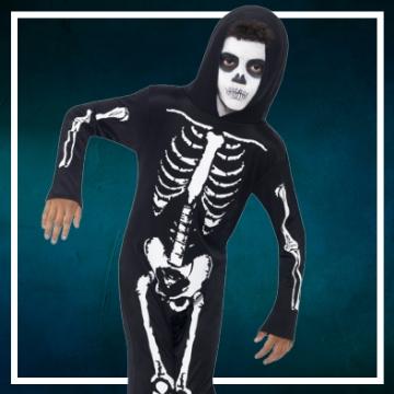 Achetez en ligne les déguisements Halloween de squelettes taille enfant