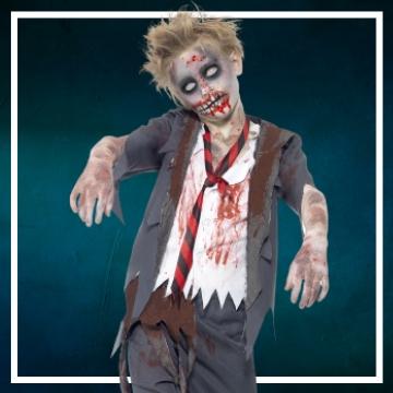 Achetez en ligne les déguisements Halloween de zombies taille enfant