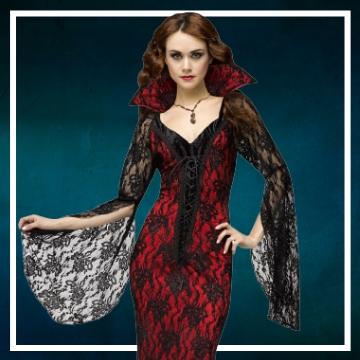 Achetez en ligne les costumes femmes pour devenir une vampiresse