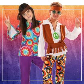 Déguisements Hippies pour garçons et filles