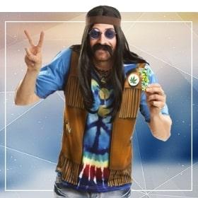 Déguisements hippies pour une soirée thématique