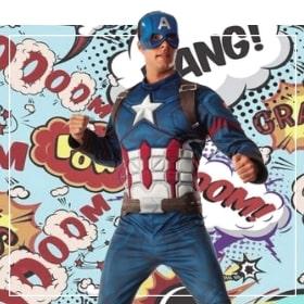 Costumes Captain America pour femmes, hommes, garçons et filles