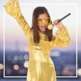 Déguisements musique disco fille pour fêtes et Carnaval