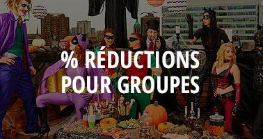 Déguisements avec réductions pour grands groupes et familles