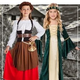 Costume médiévaux filles