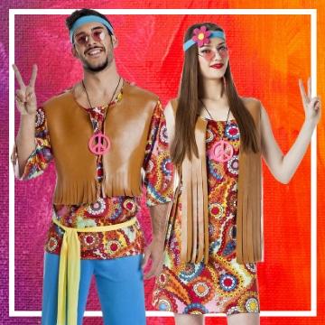 Boutique en ligne de déguisements hippies pour les couples