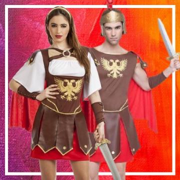 Boutique en ligne de déguisements romains pour les couples