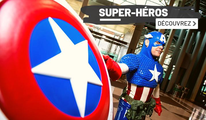 costumes et déguisements super-héros