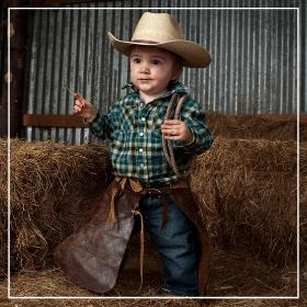 Achetez en ligne les costumes Cowboy pour bébés les plus originaux